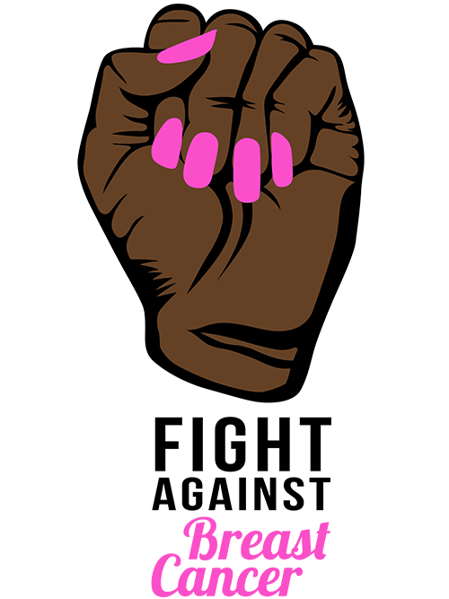 Fight Against Breast Cancer Fist Svg Png Handmade By Toya